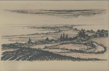 Druckgrafik Landschaft von H. Maletzke
