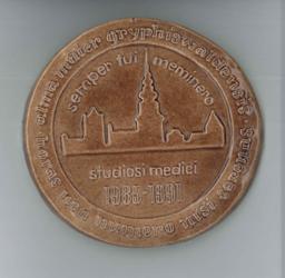 Keramikplakette Mediziner-Jahrgangsplakette, studiosi medici 1985-1991