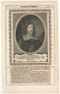 KU000776; Adler-Salvius, Johann (1590-1652); Porträtgrafik