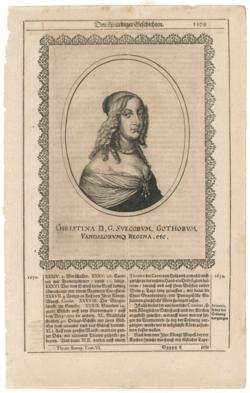 Porträtgrafik Schweden, Christina Königin v. (1629-1689)