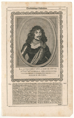 Porträtgrafik Jean-Louis Raduit de Souches (1608-1682)
