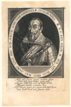 Porträtgrafik Sigismund III. König von Schweden und Polen (1566-1632)