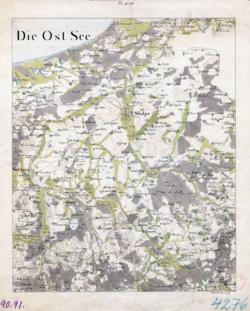 Sect. 90, 91 Stolp, Schlawe Topographische Karten - Landkarten; Altkarten