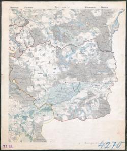 No. 77 und 78 Bernstein Woldenberg, Driesen Topographische Karten - Landkarten; Altkarten