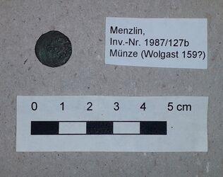 Bronzeringe, Nadelfragmente, Münze, Menzlin, Menzlin, Altkreis Anklam