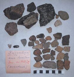 Keramik, Feuersteinabschläge, Steine, Buggenhagen, Altkreis Anklam<br><br>