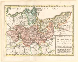 Landkarte Nieuwe Kaart van Brandenburg en Pommeren