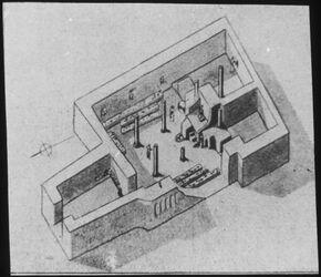 M XVII 11; Glasplattendia; [Rekonstruktionszeichnung, unbekannte Herkunft]