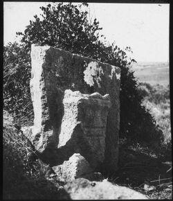 Glasplattendia Sarkophag m. Altar ch. Umm el
