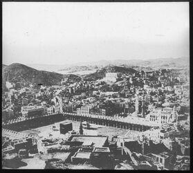 Glasplattendia Heiligtum in Mekka Hentschel