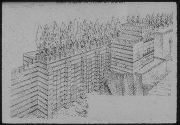 """Glasplattendia Konstantinopel [Istanbul], Die """"Hängenden Gärten"""""""