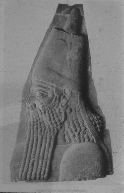 Glasplattendia Turin, Mus., Sargon II. von Assur