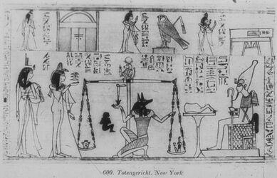 "Glasplattendia New York, ""Totengericht"" (aus Totenbuch)"