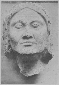 Glasplattendia Tell el-Amarna, Maske einer Frau?