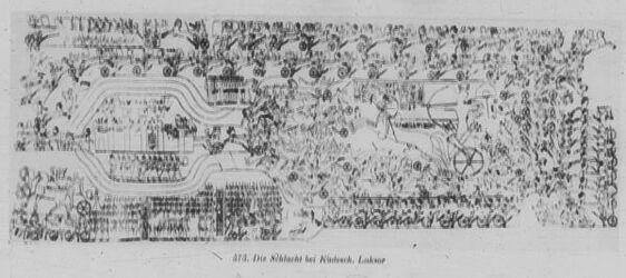 Glasplattendia Luksor [Luxor] die Schlacht bei Kadesch Ramses II.