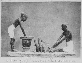 Glasplattendia Kairo, Nat. Mus., Bierbrauer d. Alten Reiches