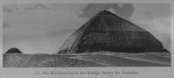 Glasplattendia Knickpyramide d. Snofru bei Dahschur