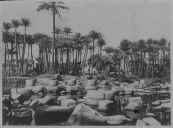 Glasplattendia Reste des Ptahtempels von Memphis