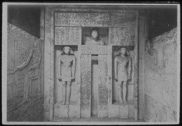 Glasplattendia Sakkara, Scheintür Im Grabe d. Neferseschem-Ptah. Kalksteinarbeit