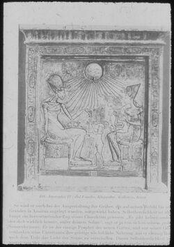 Glasplattendia Kairo, Nat. Mus., Amenophis IV. u. Familie