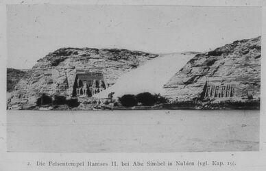 Glasplattendia Abu Simbel, Der Felsentempel Ramses II.