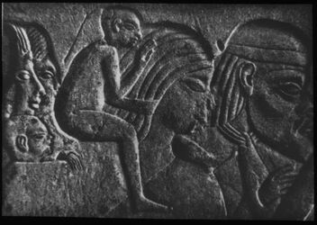 Glasplattendia Asiaten aus dem Grab des Haremhab bei Memphis NR