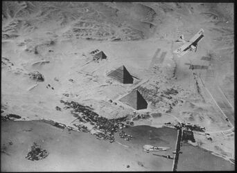 Glasplattendia Pyramiden bei Giseh [Gizeh]