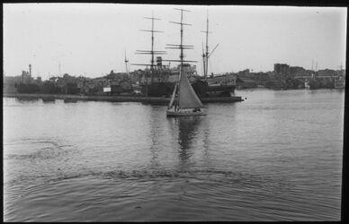 Glasplattendia Alexandrien [Alexandria], Hafen