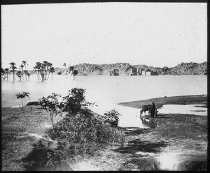 Glasplattendia Nil bei assuan [Assuaan], Philae