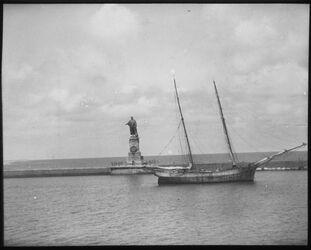 Glasplattendia Fred. Des Lesseps am suwes-Kanal [Suez-Kanal] bei Portsaid [Port Said]