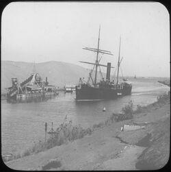 Glasplattendia Sues-Kanal [Suez-Kanal]