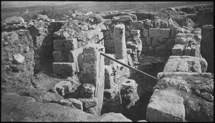 Glasplattendia Heiligtum aus Megiddo