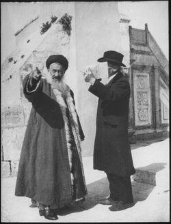 Glasplattendia Schech Chalil u. Dalman bei der Sommerkanzel [Jerusalem]