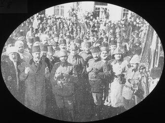 Glasplattendia Gebet vor dem Auszug d. Oberkommandierenden [Palästina]