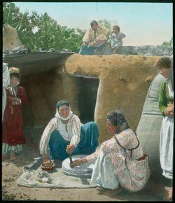 Glasplattendia Mühle mit Backofen, Nazareth