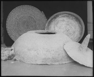 Glasplattendia tabun, tabak, batie Museum Jerusalem [Haushaltsgerät, Deutsches Palästina-Institut, Jerusalem]