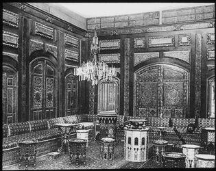 Glasplattendia Damaskus: Deutsches Konsulat, Inneres
