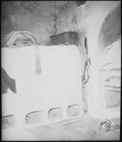 Glasplattendia Bauernhaus gewölbt Bethanien [Betanien]