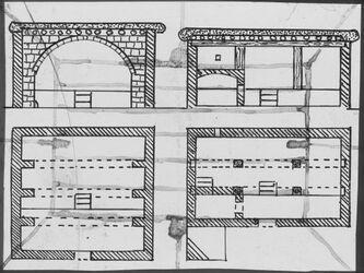 Glasplattendia [Architektur, Schnitte, Risse, Palästina]