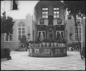 Glasplattendia Haus in Damaskus