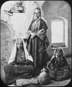Glasplattendia Bethlehemite Women [Frauen aus Bethlehem]