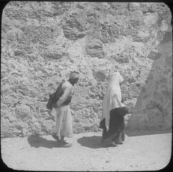 Glasplattendia Mann und Frau in Bethlehem