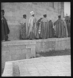 Glasplattendia Abessin. Prozession [Jerusalem]
