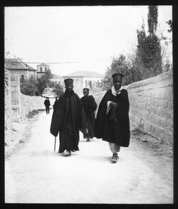 Glasplattendia Abbesinier unterhalb d. Pfarre [Jerusalem]
