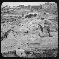Glasplattendia Ostabhang der Davidsstadt [Jerusalem]