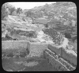 Glasplattendia Südende der Davidsstadt [Jerusalem]