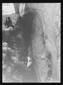 Glasplattendia Siloakanal Ablauf [Jerusalem]