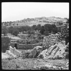 B IV 14; Glasplattendia; Innere Speermauer des Käsemachertals [Jerusalem]