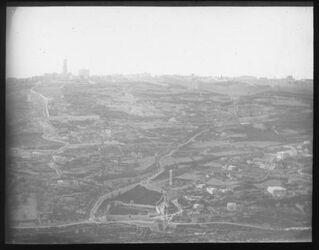 Glasplattendia Zion und Sion v. S. [Jerusalem]