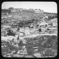 Glasplattendia Südl. Zion [Jerusalem]